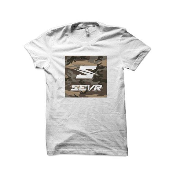 SEVR T-SHIRT - CAMO SQUARE