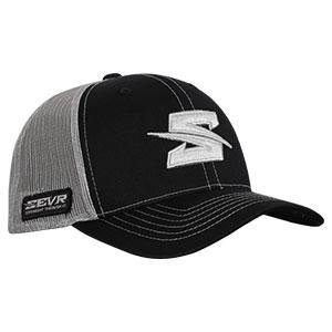 SEVR BLACK TRUCKER STYLE HAT