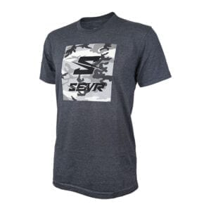 SEVR T-Shirt – Camo Square – Charcoal